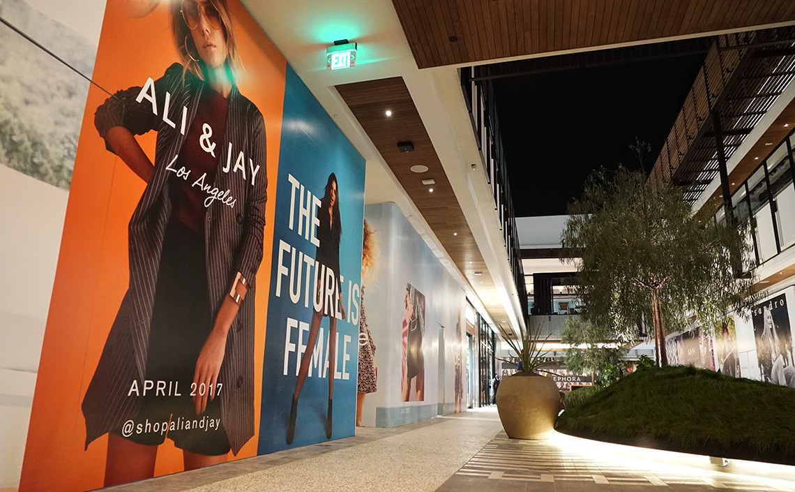 Century City - Mall Expansion Enclosure & Graphics Project